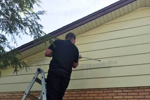 power washing siding